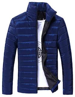 Men's Parka Stand Collar Cotton