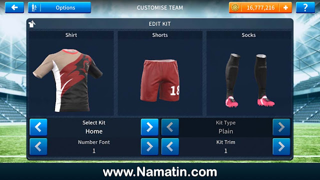 Skin Dream League Soccer Futsal Keren 2019