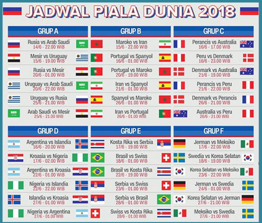 Image Result For Jadwal Final Piala Dunia Rusia