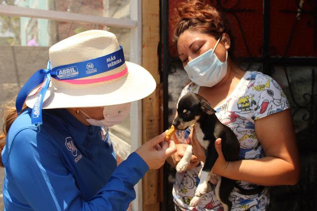 Abril Ferreyro comprometida con el cuidado a las mascotas