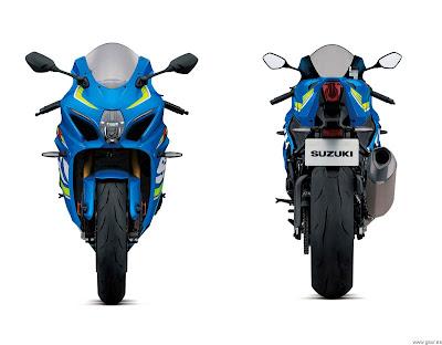 Suzuki GSX-R1000 front & rear view HD Image