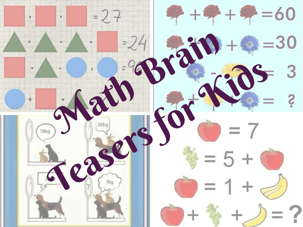 Math Brain Teasers For Kids With Answers