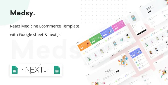 Best Medicine Ecommerce Template with Google sheet