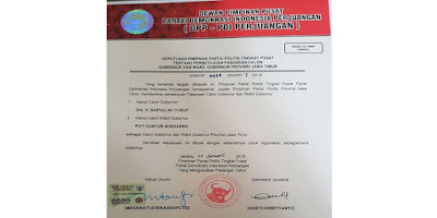 PDIP tunjuk Puti Guntur Soekarno dampingi Gus Ipul