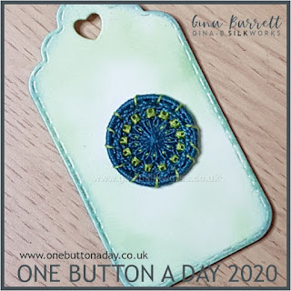 One Button a Day 2020 by Gina Barrett - Day 89: Popinjay