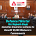 Defence Minister Shri Rajnath Singh launches insurance scheme to benefit 10,000 workers in Cantonments