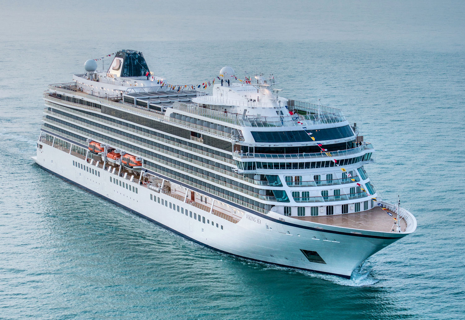 The Viking Sea to be christened in Greenwich, England, May 5, 2016. Photo: © Viking Cruises. Unauthorized use is prohibited.
