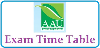 AAU Anand Exam Date 2020