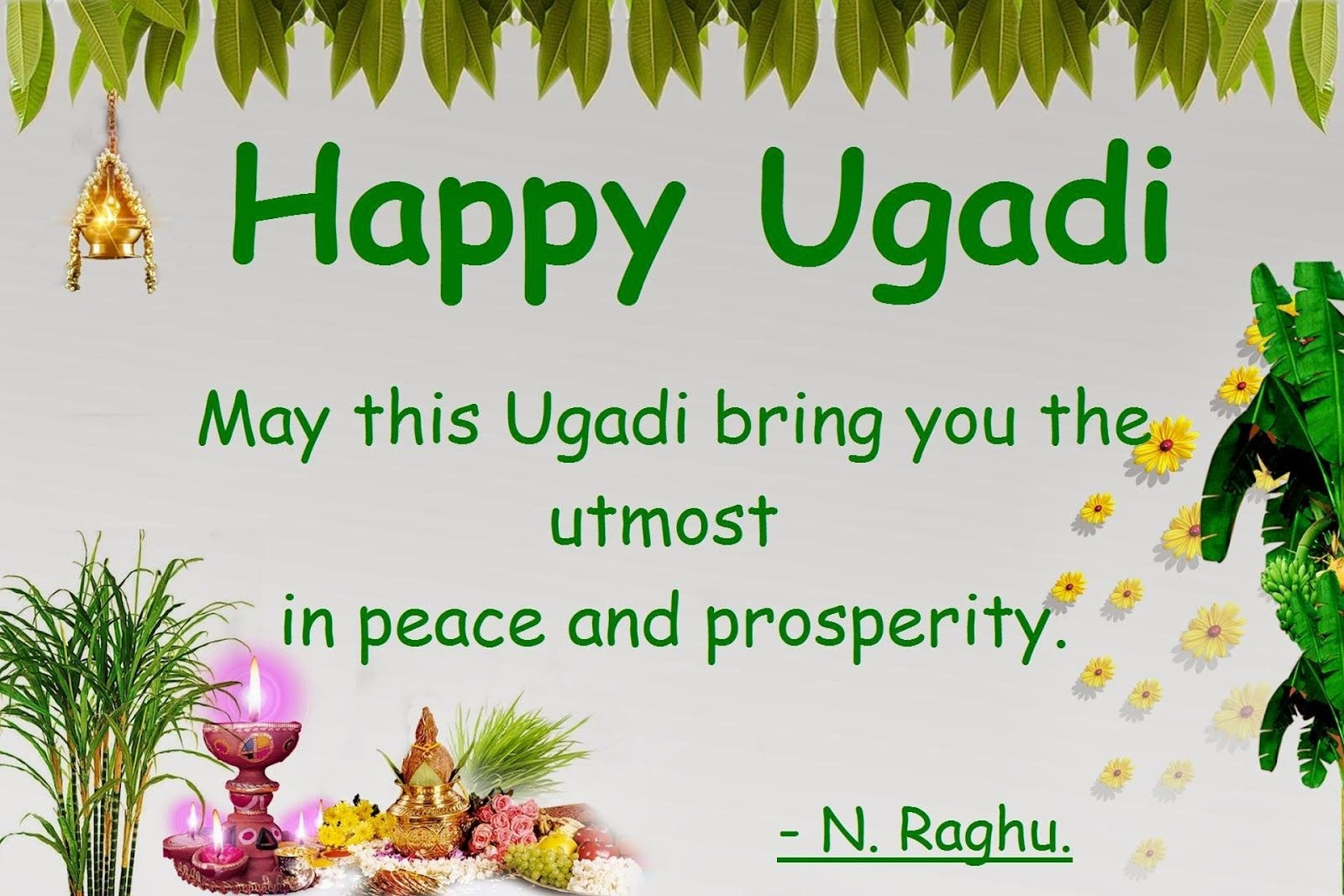 Raghu\'s column!: Telugu New Year Greetings! - Happy Ugadi!