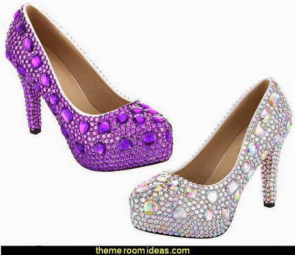 Rhinestone and Crystal Womens Platform Bridal,Evening,Party,Wedding Pumps Shoes