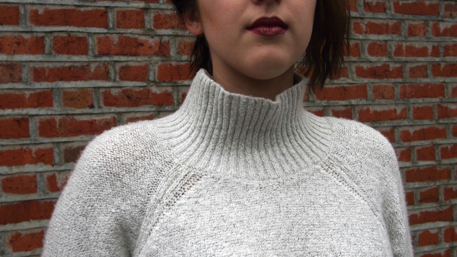 Close up of turtleneck dress