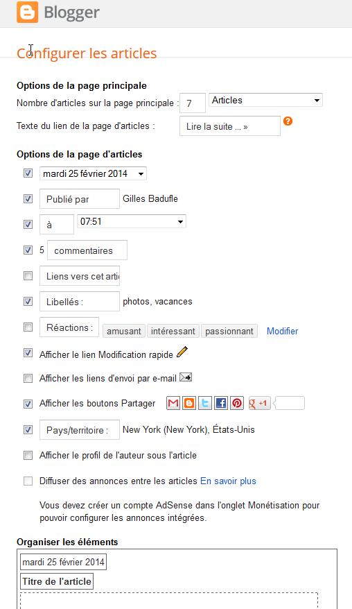 Modifier/Configurer TOUS les ARTICLES de votre BLOG  BLOGGER