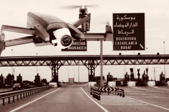 """شاهد بالفيديو...الدرك الملكي يطلق طائرات بدون طيار """"درون"""" لمراقبة الطرق ورصد بعض المخالفات"""