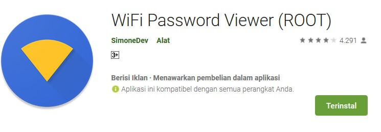 Wifi Password Viewer Aplikasi Root