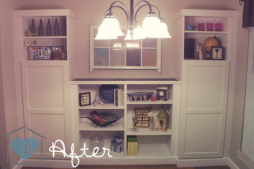 Our New Built-In via Ikea ~ DelightCreativeHome - Besta Ikea White Creative