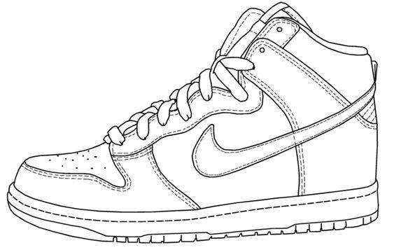 Hình tô màu giày đẹp