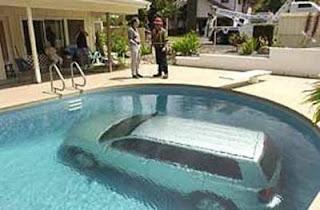car in pool