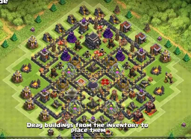Base COC TH9 Farming 29
