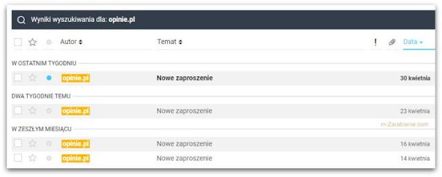 Panel Opinie.pl, ilość ankiet.