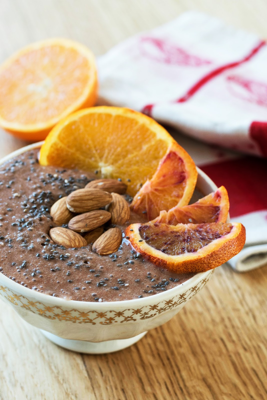 recette  smoothie bowl banane chocolat orange