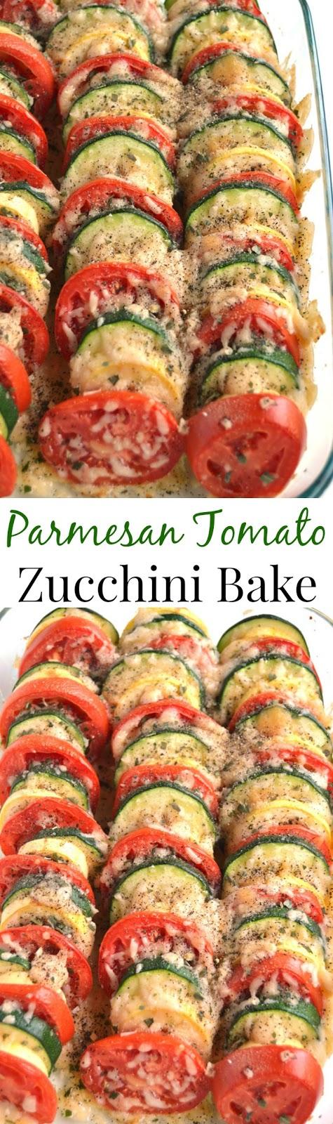 Amazing Parmesan Tomato Zucchini Bake