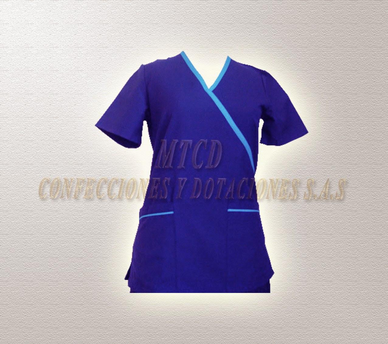 Bata de uniforme cruzado dotacion