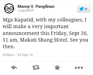 Manny Pangilinan (MVP) Tweet about Free Mobile Internet