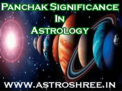 panchak significance in vedic astrology