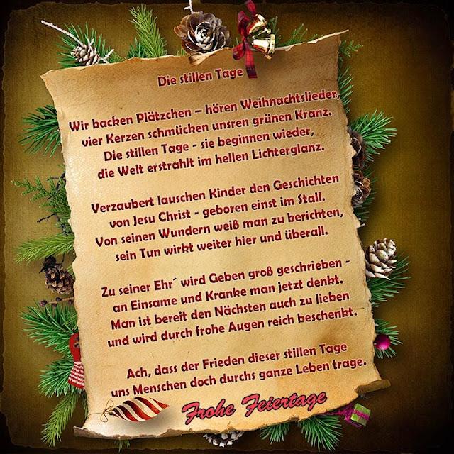 Besinnliches Weihnachtsgedicht Weihnachtsgedichte Zum Nachdenken