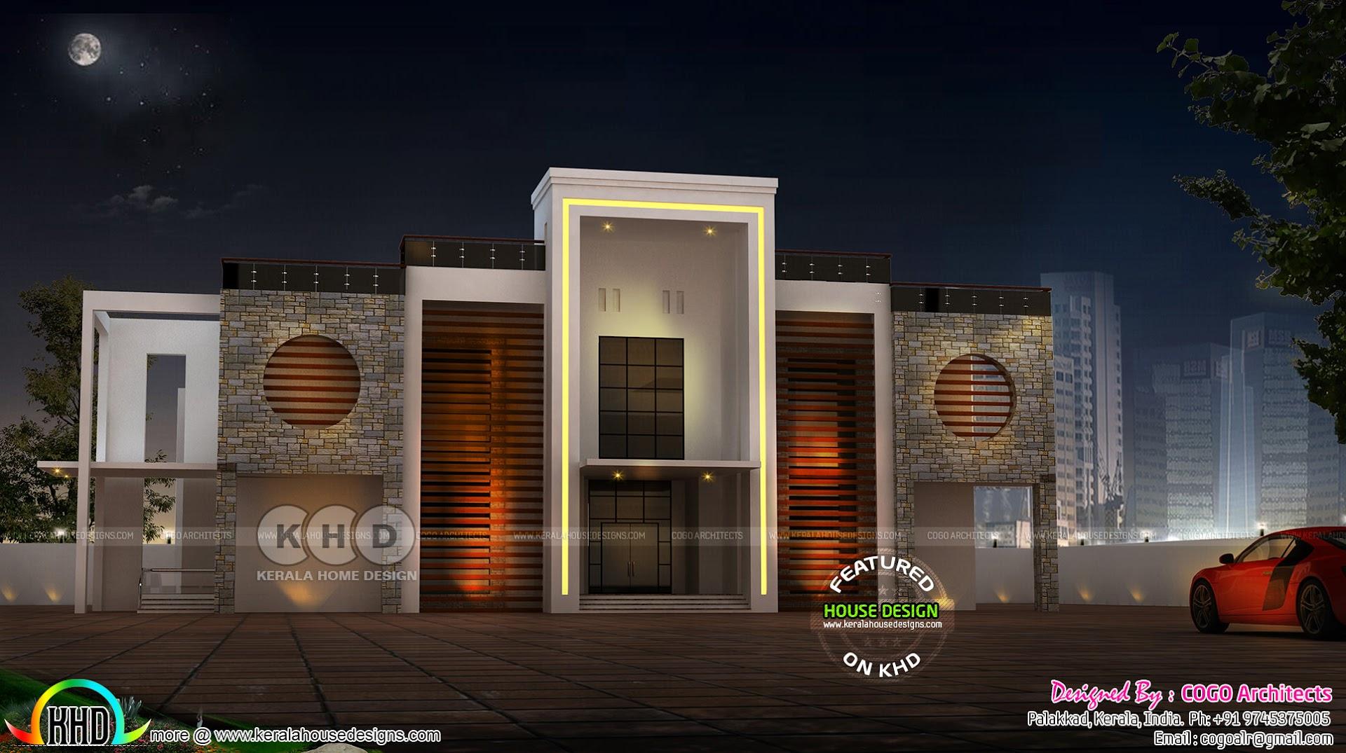 Arabian model 5 bedroom home design kerala home design for Arabian home designs