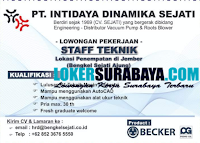 Loker Surabaya di PT. Intidaya Dinamika Sejati Jember September 2020