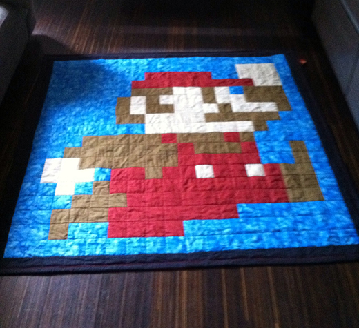 Super Mario Brother Quilt Free Pattern