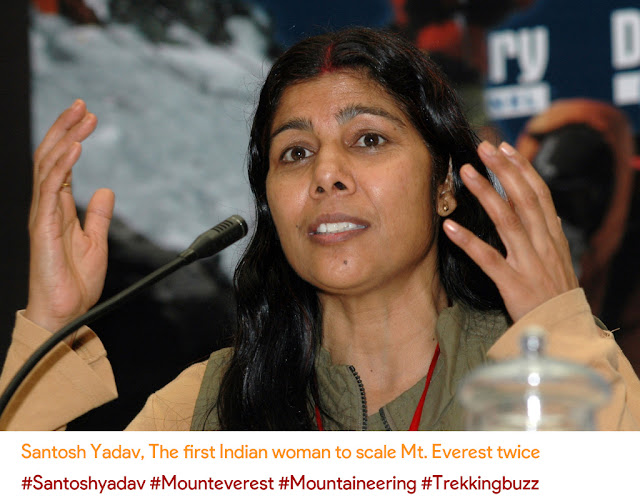Santosh Yadav First Indian Woman to climb Mount Everest