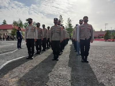 Tingkatkan kemampuan peraturan baris berbaris (PBB) Personel Polres Bener Meriah