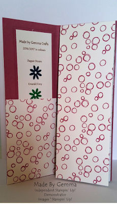 Stampin'Up! notepad cover sweet sugarplum