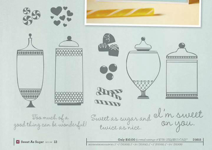 sweet as sugar hostess stamp set