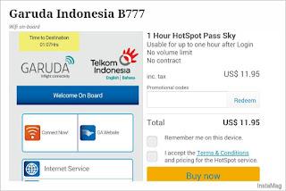 Tarif WiFi di Pesawat Garuda