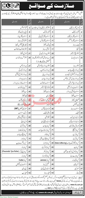 NLC Jobs 2021 - Latest Jobs in National Logistics Cell February 2021 Apply Online