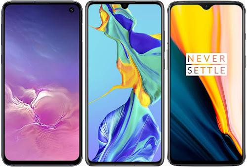 Samsung Galaxy S10e vs Huawei P30 vs OnePlus 7