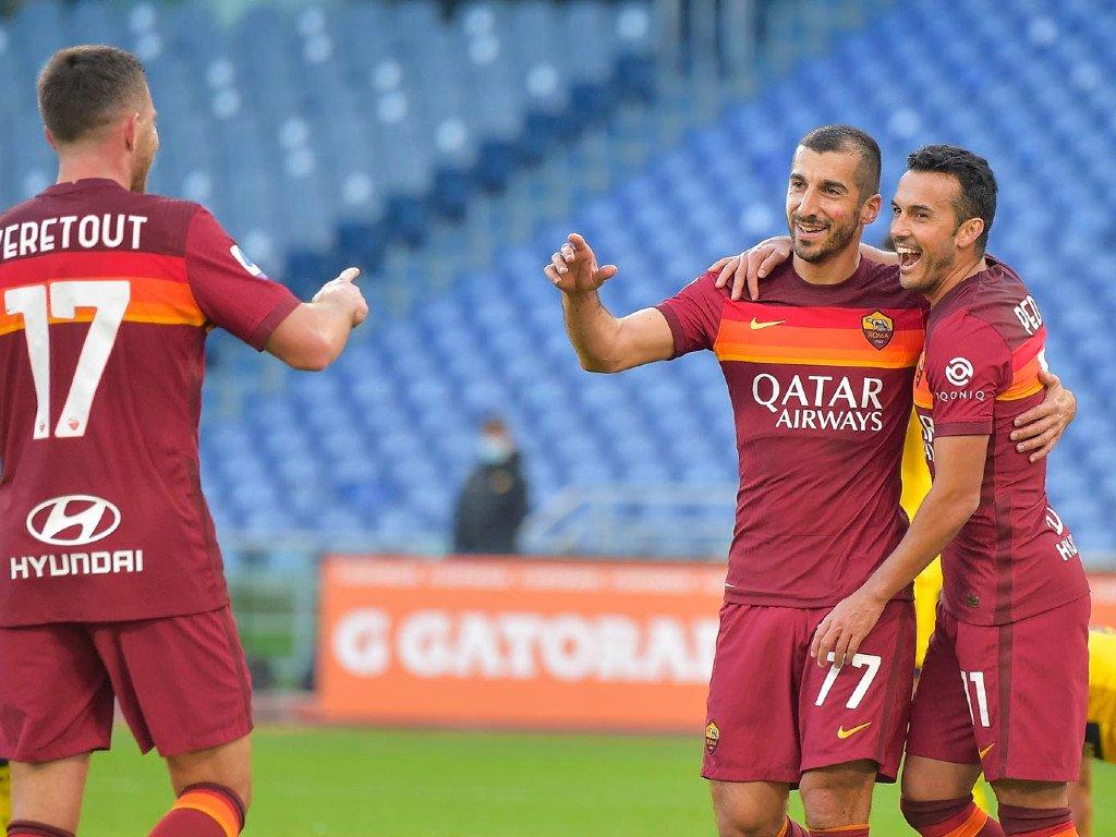Henrikh Mkhitaryan and Pedro are linking up well at AS Roma