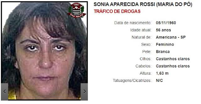 Sonia Aparecida Rossi (Maria do Pó) - Tráfico de drogas