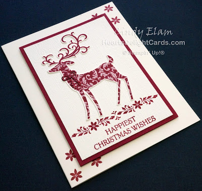 Heart's Delight Cards, Dashing Deer, Dashing Along DSP, Stamp-A-Stack, Stampin' Up!