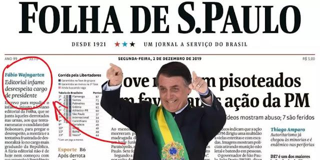 Bolsonaro responde à infâmia da Folha