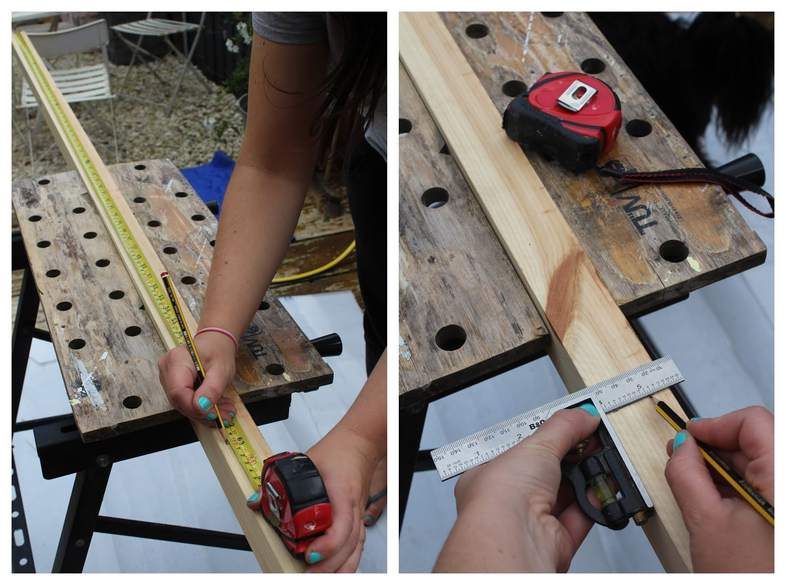 DIY how to mark up and cut wood