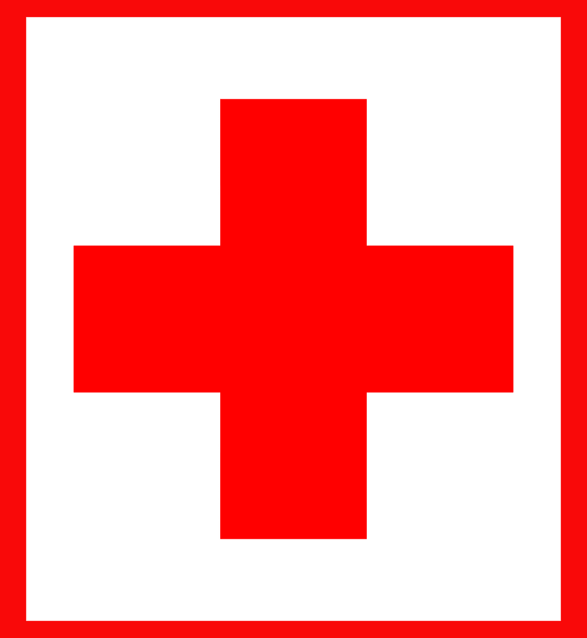 red and white medic cross to illustrate a blog post about military medic war movies