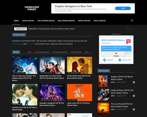 Hdmoviespoint.vip Tamil, Telegu, and Hollywood movies