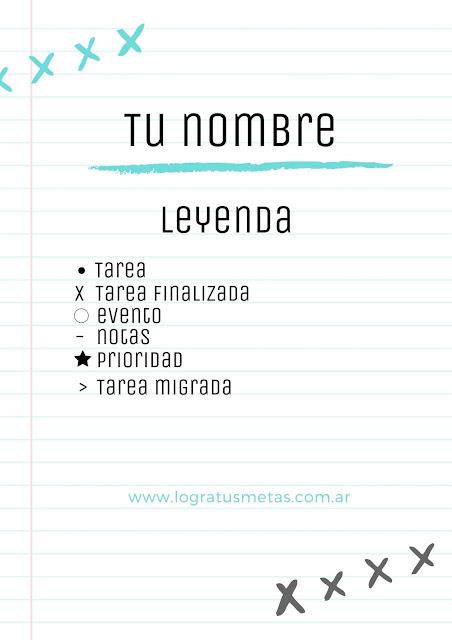 bullet journal leyenda logratusmetas.com.ar
