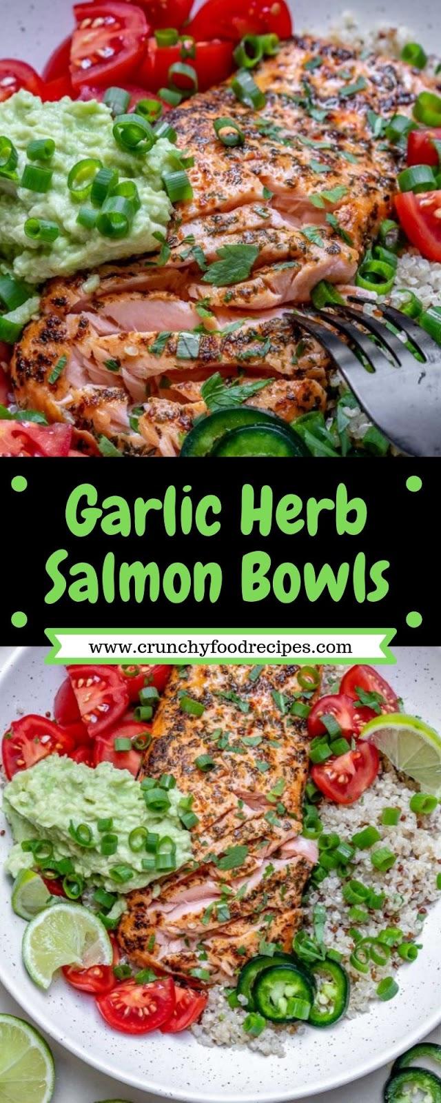 Garlic Herb Salmon Bowls