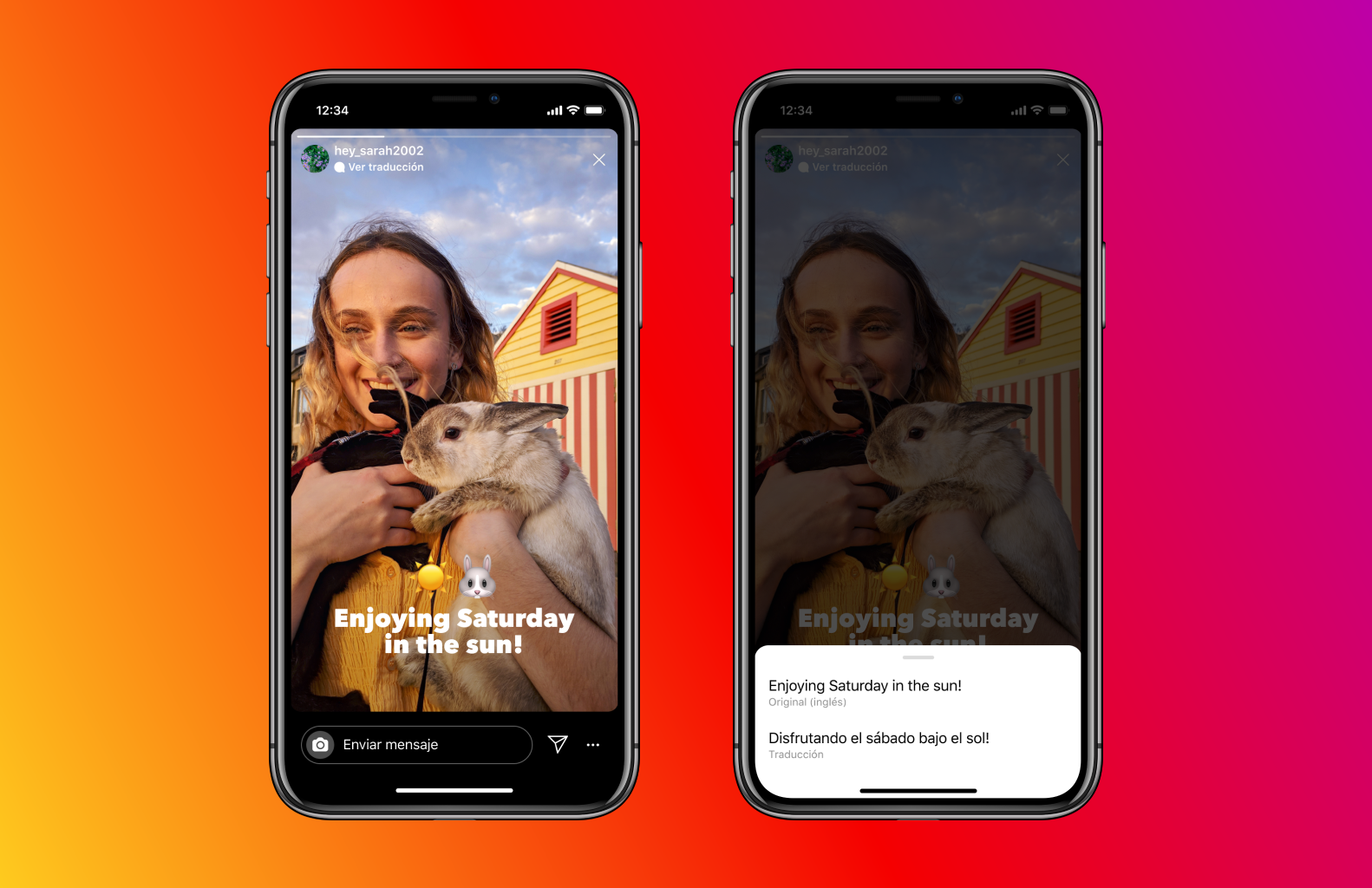Now, it'll be easier than ever for users to connect with global audiences on Instagram Stories. With translations, people will be able to translate Stories text into their native language and enjoy more content on Instagram.