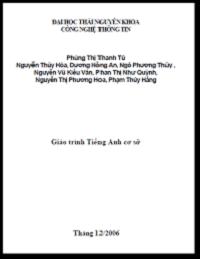 Giáo Trình Tiếng Anh Cơ Sở - Công Nghệ Thông Tin - Phùng Thị Thanh Tú